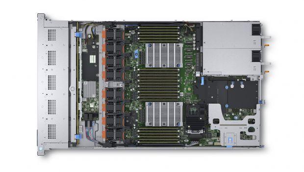 Внутренняя конструкция сервераDell EMC PowerEdge R640